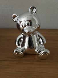 spaarpot model beer kever zilverkleurig