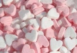 pepermunt hart roze wit 250 gram