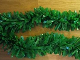 guirlande pvc swirl kleur groen 6 m