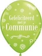 communie ballon lime groen 30 cm, 11 inch per 5 stuks