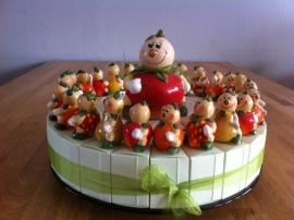 fruit poppetjes taart