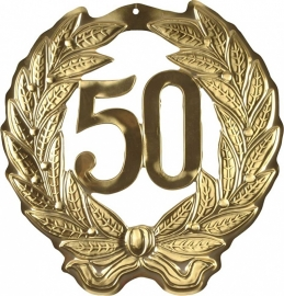 hulde krans 50 goud