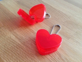 hart rood doosje met ketting per stuk