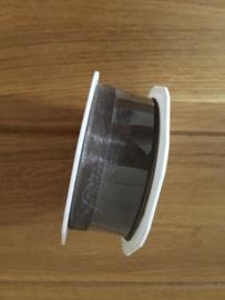 lint op rol taupe  5 meter x 25 mm