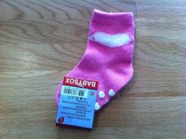 baby sokjes cute roze maat 56-68