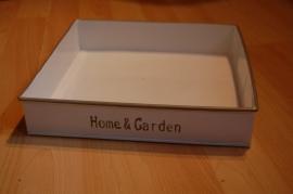 home en garden bakje vierkant naturel