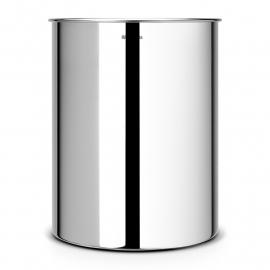 Brabantia prullenbak 15 liter brilliant steel rvs