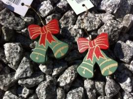 hanger met koord kerstbellen