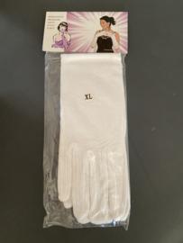 paar handschoenen kleur wit maat XL 40 cm