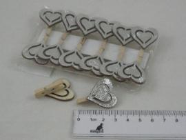 hart knijper 3 cm prijs per stuk
