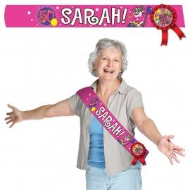 Sjerp Sarah 50 kleur roze met rozet