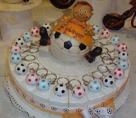 oranje voetballer taart