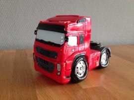 truck vrachtauto spaarpot rood