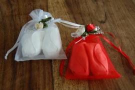 zeep roos blaadjes verpakt compleet