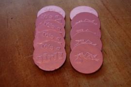 chocolade munten geboorte meisje per 10 stuks