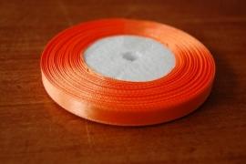 lint stof gl oranje smal 20 meter per rol