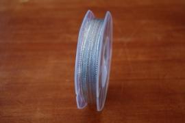 lint stof zilver smal per rol