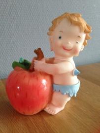 kinder jongen spaarpot appel