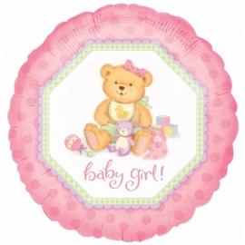 geboorte ballon roze baby girl