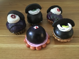 cupcake als decoratie gemengd