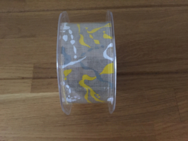 lint op rol camouflage geel 38 mm x 15 meter