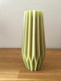 Gusta Kaars 19,3 cm kleur licht groen