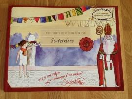 het schets en knutselboek van Sinterklaas