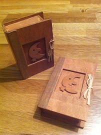 houten boek geschikt voor vulling