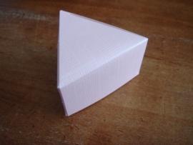 driehoek doosje roze prijs voor 8 stuks
