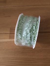 lint op rol groen ruches 2.5 m x 16 mm