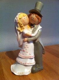taarttopper bruidskoppel cartoon groot model