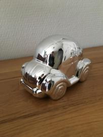 spaarpot model auto kever zilverkleurig