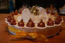boedha sleutelhanger taart