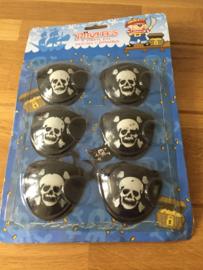 piraat ooglapje aantal 6 stuks
