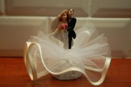 bruidspaar stel opgemaakt