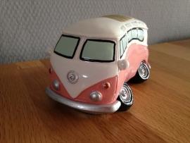autobus roze model als spaarpot