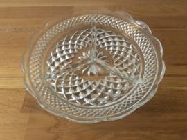 Wexford glazen schaaltje 3 vaks