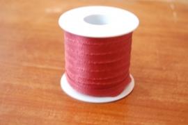 lint stof 20 mtr rood,bruin per rol