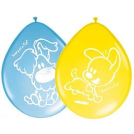 Woezel en Pip ballonnen 8 stuks geel blauw