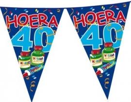 vlaggenlijn hoera 40 jaar
