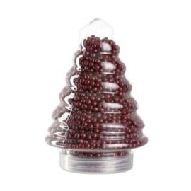 Leonardo kerstboom glitterparels rood 500 gram