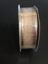 organza champagne op rol 2.5 cm breed