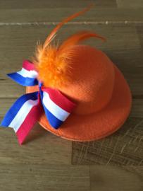Oranje mini-hoedje voor vrouwen type C