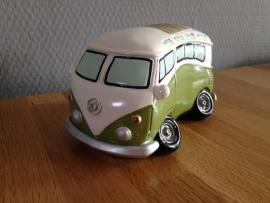 autobus groen model als spaarpot