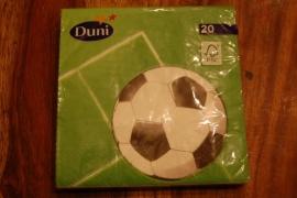 servetten met voetbal print
