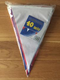 vlaggenlijn rood wit blauw 40 meter plastic