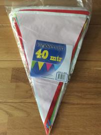 vlaggenlijn assortie 40 meter plastic