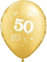 50 goud ballonnen per 5 stuks