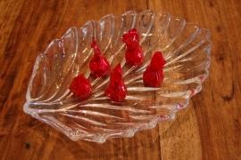 bonbonnière glas schaal blad motief