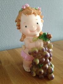 kinder spaarpot meisje druiven
